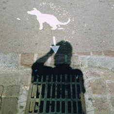 Hundeabtritt in Frankreich