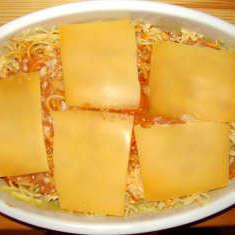Spaghetti Kurbis Auflauf