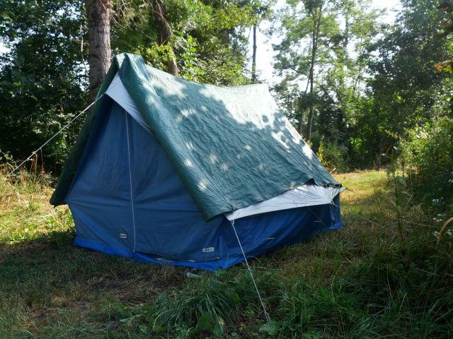 30 Jahre altes Zelt