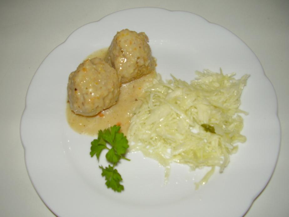 Vegetarische Königsberger Klopse mit Seitan