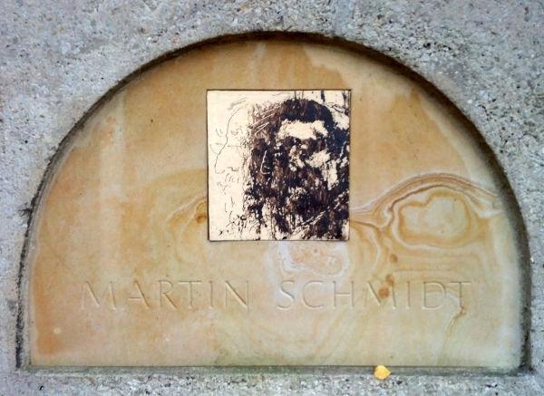 Urnengrab von Martin Schmidt im Kolumbarium auf dem Gertraudenfriedhof in Halle
