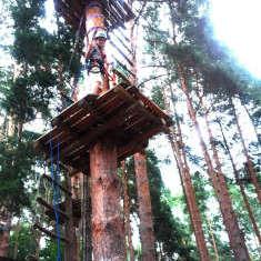 Meine mutigen Neffen im Kletterwald Schwindelfrei im Halleschen Heidebad