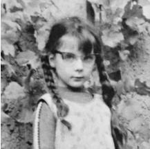Christiane im Alter von 7 Jahren