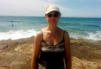 Christiane am Atlantik