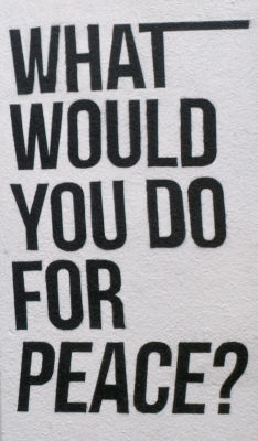 What would you do for peace?