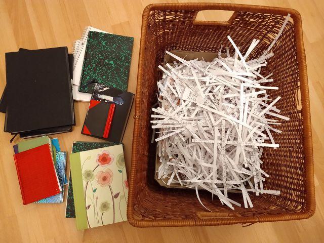Tagebücher schreddern